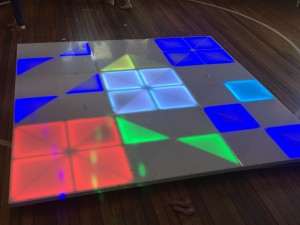 Light-up dance floor karaoke kids party
