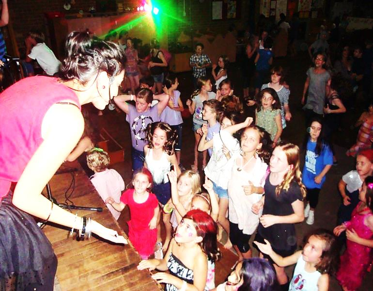 A children's school disco