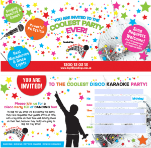 Exclusive unisex designer kid's party invitations