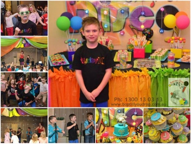 Kids Disco Party Ideas We All Had An Awesome Time Celebrating Jacks 7th Birthday At His Fantastic Bop Till You Drop Karaoke
