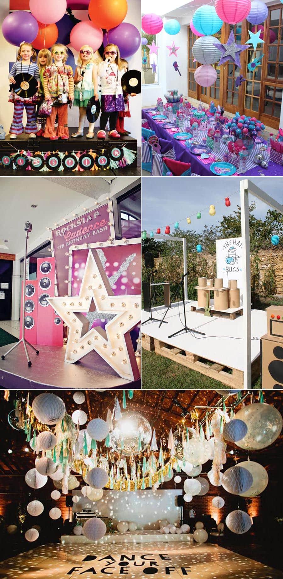 rockstar themed party ideas
