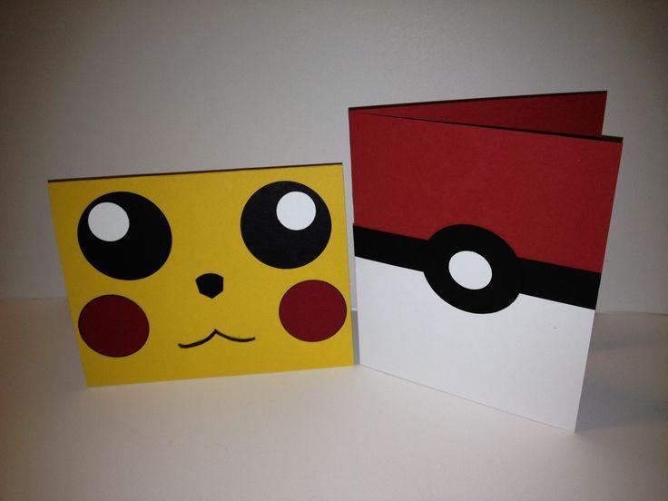 Create really simple Pokemon invitations using a few coloured paper, glue and creativity.